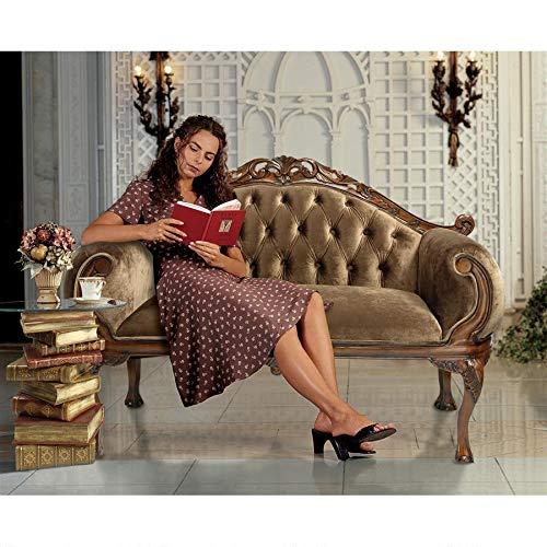 Design Toscano HA6785 Mademoiselle Moreau's French Salon Settee, Oak