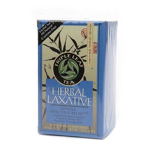 Triple Leaf Tea Natural, Herbal Laxative 0.07 oz(Pack of - Leave Herbal