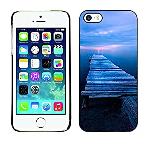 TopCaseStore / la caja del caucho duro de la cubierta de protección de la piel - Nature Beautiful Forrest Green 171 - Apple iPhone 5 / 5S