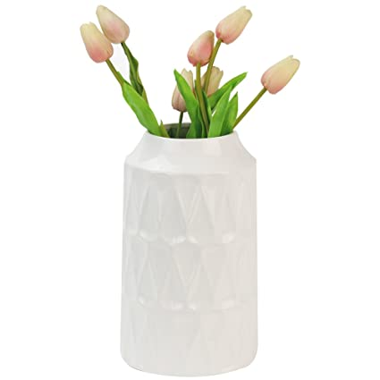 Amazon Wanya 105 Inch Tall White Ceramic Vase For Flowers