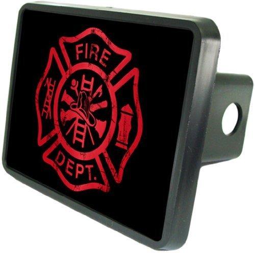 (Fire Dept Red Symbol Custom Hitch Cover 2