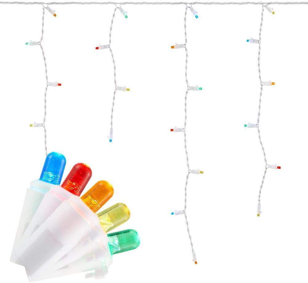 Home Accent Holidays 200-Light Multi-Color LED Dome Icicle Light Set