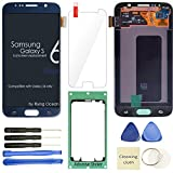 Samsung Galaxy S6 LCD Display Screen Replacement + Touch Digitizer Assembly for G920 G920A G920P G920T G920V G920R4 G920F , with Repair Tools + Screen Protector, (Blue)