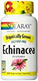 Solaray Organic Echinacea Purpurea Supplement, 415 mg, 100 Count
