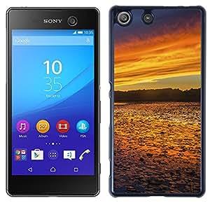 Print Motif Coque de protection Case Cover // F00001215 Sunset Lake noche reflejos en el agua // Sony Xperia M5 E5603 E5606 E5653