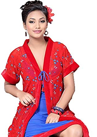 Hot N Sweet 9109 A Red n Blue Two pieces nighty  Amazon.in  Clothing    Accessories 8b43563ec