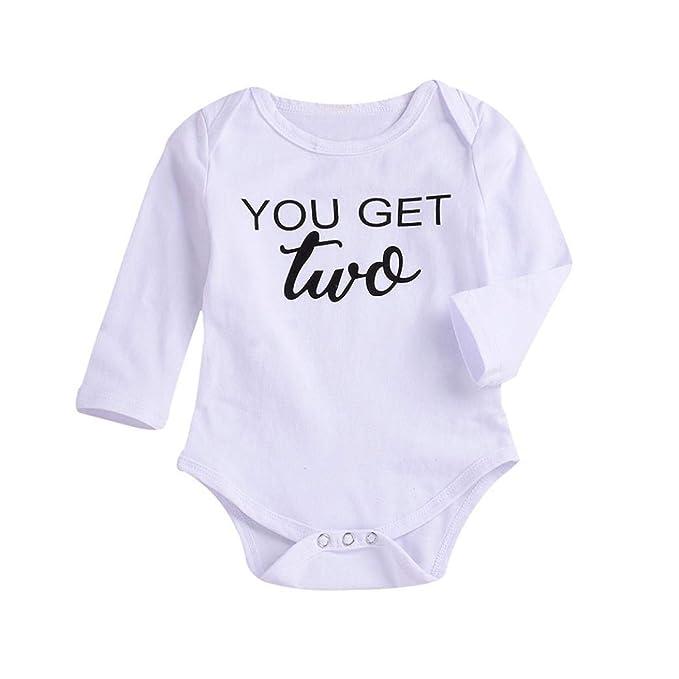 QinMM Body de Carta para bebé niña y niño, Mono Peleles Manga Larga para la Blusa de Primavera de otoño Pijama Camisa: Amazon.es: Ropa y accesorios