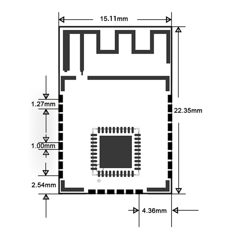 Webee Industrial Zigbee To Serial Uart Transceiver Circuit Diagram Of Moduleti Cc2530 Wireless Module Computers Accessories