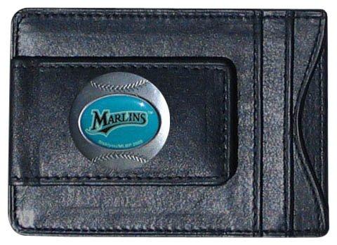 Siskiyou MLB Florida Marlins Leather Cash and Card Holder - Florida Marlins Gear