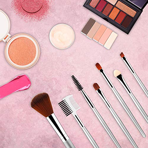 11pcs materasu Original Makeup Brush Set, Synthetic Foundation Face Powder Blush Eyeshadow Brushes Makeup Brush Kit with Makeup Purse/Blender Sponge and Brush Cleaner