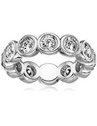 Michael Kors Silver-Tone Circles Ring, Size 9