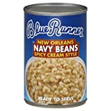 Blue Runner New Orleans Spicy Cream Style Navy Beans, 16-Ounce (Pack of 12)