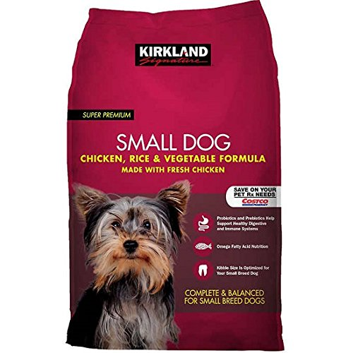 Kirkland Signature Small Breed Adult Dog Formula Chicken, Rice & Vegetables 20lb Bag For Sale