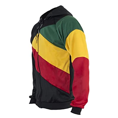 JL Sport Jamaica Reggae 3 Colours Stripes Hooded Children Kids Youth Capoeira Jacket Track Suit Jumper Top 6-14 yrs