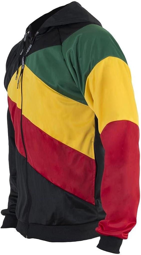 JL Sport Reggae Jamaica Flag Sudadera con Cremallera Negro Jersey Chándal Rasta Ninos Top Sudadera: Amazon.es: Ropa y accesorios