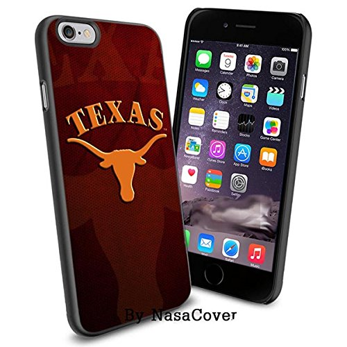 (Available for iPhone 4,4s,5,5s,6,6Plus) NCAA University sport Texas Longhorns , Cool iPhone 4 5 or 6 Smartphone Case Cover Collector iPhone TPU Rubber Case Black [By Lucky9Cover]
