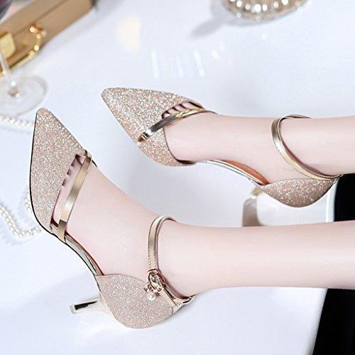 Cuir Les Printemps FemellecouleurDoréTaille De Hwf En Femme Simples Chaussures 40Doré Femmes QChtrsxd