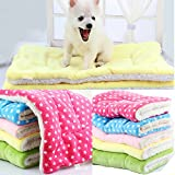 Liumltao Super Soft Flannel Fleece Dog House Cat Pet Bed Blankets, Puppy Doggie Cat Cushion Mats Dog Bed Mattress Bet Mats Bed Cushion,Small to Extra large Dog Blanket, 6 Colors avaliable