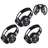 Kyпить 3 Pack of Two Channel Folding Adjustable Universal Rear Entertainment System Infrared Headphones With 3 48