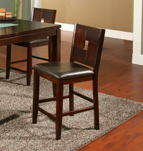 Alpine Furniture Lakeport Counter Height Pub Chairs (Set of 2) Alpine Leather Chair