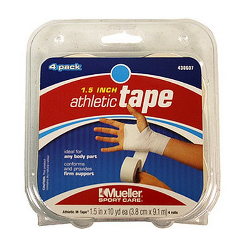 Mueller Mtape, Athletic Trainers Tape - 4 Pack - 1.5