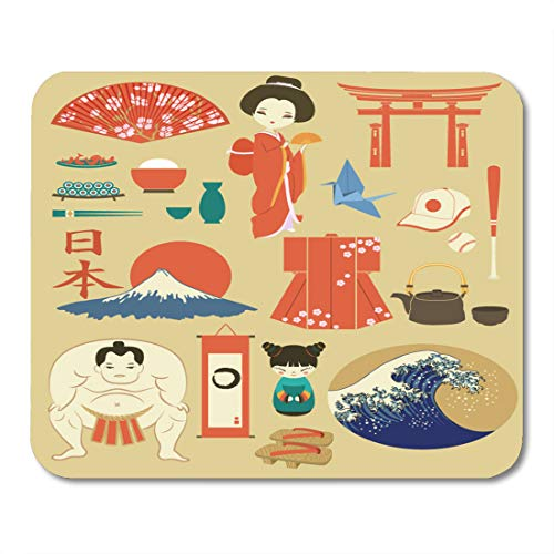Boszina Mouse Pads Japan Landmarks Symbols and of Including for sale  Delivered anywhere in USA