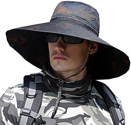 XUERUI Sombreros Sombrero para El Sol Masculino ala Verano Aumento ...