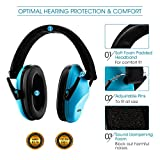 Mpow 068 Kids Ear Protection Safety Ear Muffs, NRR 25dB Noise Reduction Hearing Protection for Kids, Toddler Ear Protection for Shooting Range Hunting Season for Kids Toddlers Children (Blue)