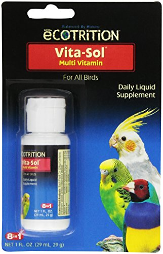 Vita Sol Vitamins - eCOTRITION Vita-Sol Multi-Vitamin for Birds, 1-Ounce