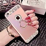 Best IKASEFU Iphone 6 Case Purples - IKASEFU Crystal Bling Ring Holder Shiny Shockproof Luxury Review