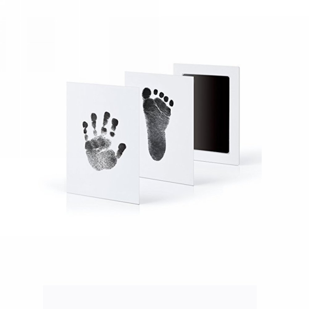 Baby Hand and Footprint Hand Print Pad Anti-Virus Infection Baby Hand and Foot Print Free Wash Ink (Black)