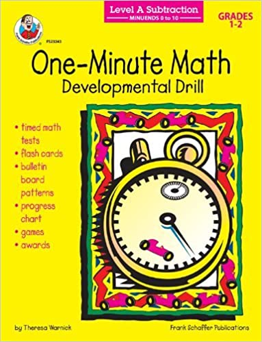 Book Subtraction: Minuends 0 to 10, Grades 1 - 2: Developmental Drill (One-Minute Math Drills) by Theresa Warnick (2001-08-28)