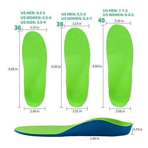 OptiFeet High Arch Support Orthotic Shoe Insoles Cup Cushioned Inserts for Men Women Foot Development, Flat Foot Insoles for Flat Feet by OptiFeet (Image #4)