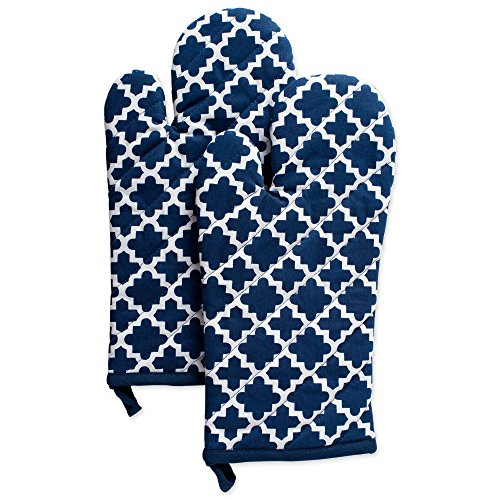 DII Cotton Lattice Oven Mitts, 13 x 7