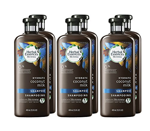 Herbal Essences Biorenew Coconut Milk Hydrate Shampoo, 13.5 FL OZ (Pack of 6) - Hydrating Coconut Milk