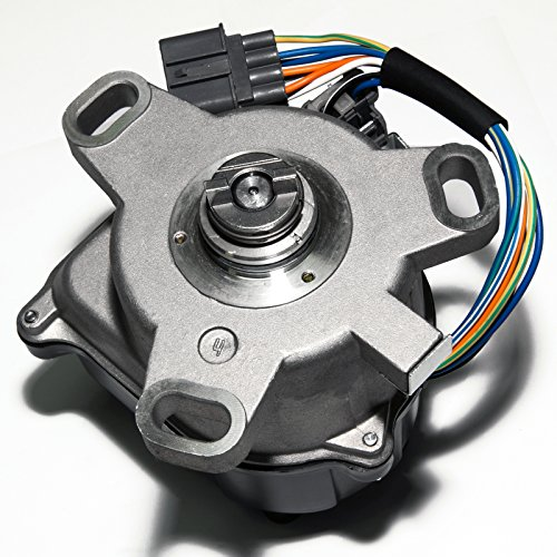 (Brand New Compatible Ignition Distributor w/Cap & Rotor TD-52U TD-59U for 92-95 Honda Accord Prelude 2.2L External Coil 30100-PT3-A12 Hollander 606-58717 )