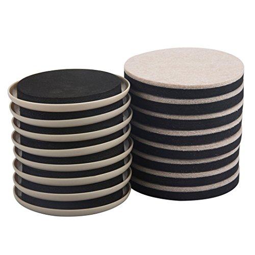 8PCS Furniture Movers 3.5 Inch Plastic Sliders And 8PCS Felt Sliders Pack For Carpet Hardwood Floors