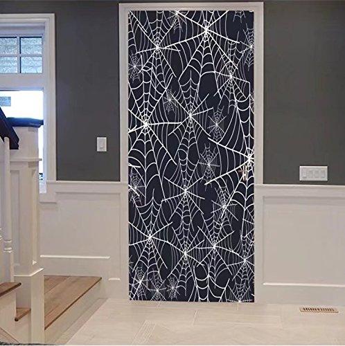 scocici1588 3d Door Wall Mural Wallpaper Stickers-vector spiderweb