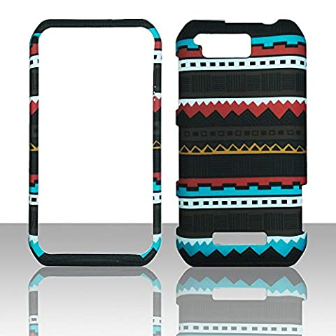 2D Black Tribal Motorola Photon Q LTE XT897 Sprint Case Cover Phone Snap on Cover Case Faceplates (Motorola Phone Q)