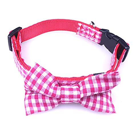 086be4843716 Bow Tie Dog Collar — For Dogs & Puppies — Fashion Colors & Patterns (Pink