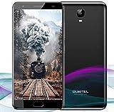 OUKITEL OK6000 Plus Smartphone, 5.5 Inch FHD Screen, MT6750T Octa-Core, 4GB RAM 64GB ROM, Android 7.0, 16+8MP Cameras, Dual Sim, Fingerprint Recognization, 12V/2A Flash Charge, 6080mAh Battery-Black