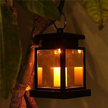 Camping Top Fumée Jardin Pour Pelouse Tente Lampe Cour Extérieur Bougie Flamme Tp Patio Solaire Sans Lanterne Suspendue Lumière Led CBQrxothsd