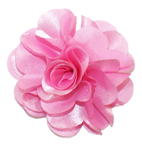Ted and Jack - Solid Silky Classic Flower Lapel Pin Boutonniere ()