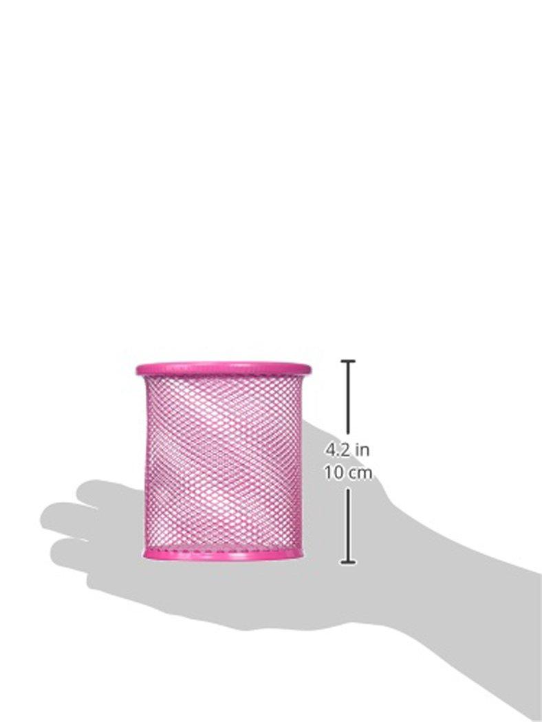 9.8cm Height Fuchsia Uxcell Cylinder Pen Ruler Holder Desk Organizer