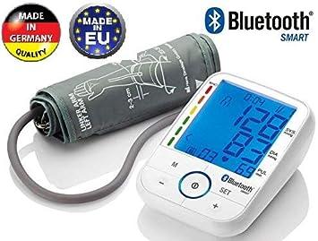 TENSIOMETRO DE BRAZO CON BLUETOOTH SBM 67 PRESION ARTERIAL CONTROL PANTALLA LCD RETROILUMINADA HIPERTENSION TEST: Amazon.es: Salud y cuidado personal