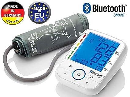 TENSIOMETRO DE BRAZO CON BLUETOOTH SBM 67 PRESION ARTERIAL CONTROL PANTALLA LCD RETROILUMINADA HIPERTENSION TEST