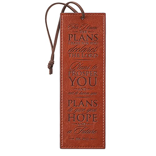 Brown Jeremiah 29:11 Two-tone Pagemarker / Bookmark - Bookmarks Christian