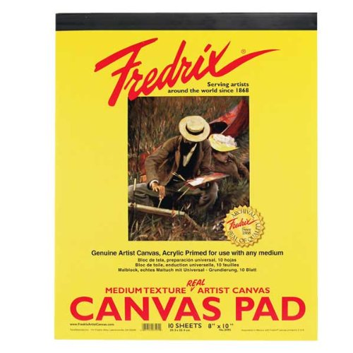 Fredrix 3501 Canvas Pads, 12 by 16-Inch (Acrylic Painting Paper)