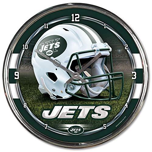 Chrome Nfl Clock - NFL New York Jets Chrome Clock, 12