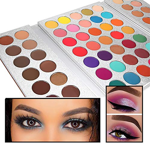 Beauty Glazed Eyeshadow Palette Makeup 63 Colors Shimmer Matte Soft Smoky Nude Easy to Wear Highly Pigment Eye Shadow Pallet